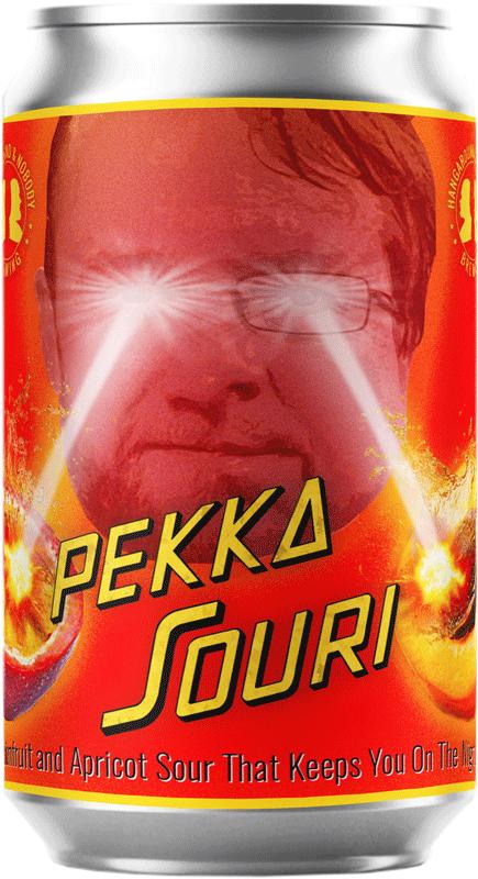 Kuva Pekka Souri -oluttölkistä